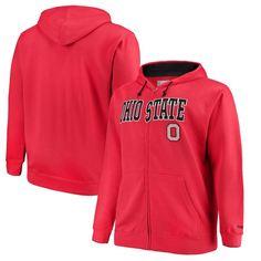 NCAA Mens Big and Tall Fleece Hood Ohio State Buckeyes RED 5X