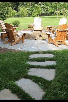 44 Ideas For Flagstone Patio Diy Lawn Fire Pit Backyard, Backyard Patio, Backyard Landscaping, Backyard Seating, Outdoor Patios, Outdoor Rooms, Patio Circular, Stone Backyard, Diy Terrasse