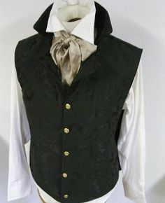 Tailored Regency Historic Vest Waistcoat - Pointed Collar