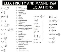 Electricity and magnetism. Physics 101, Learn Physics, Physics Formulas, Physics Notes, Modern Physics, Chemistry Notes, Theoretical Physics, Physics And Mathematics, Quantum Physics