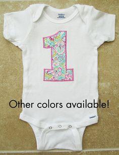 First Birthday Onesie  1 girl first birthday by noellebydesign