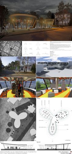 university project, 5th term, library, Klánovice city