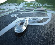 I Like Architecture on TUMBLR   2012 Korea Yeo-Su Expo Thematic Pavilion by GGLab