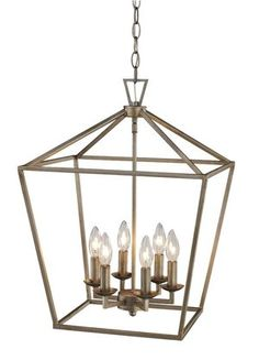 Carmen 6 - Light Lantern Geometric Chandelier Found it at Wayfair – Carmen 6 Light Foyer Pendant 179 Bel Air Lighting, Chandelier Lighting, Chandeliers, Empire Chandelier, Lighting Ideas, Gold Chandelier, Laurel, Globe, Foyer Decorating