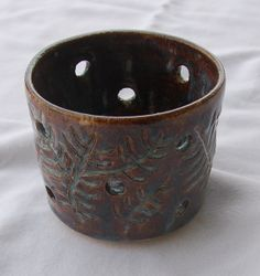 Pottery Candle Holder Ceramic Candle Holder by PotteryBySaleek, $22.00