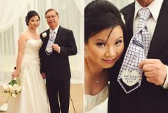 personalized tie for father of the bride   photo by Kreative Angle Photography