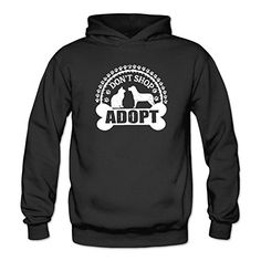 Kettyny Womens Adopt Dont Shop Dog Poster Sweatshirts Hoodie * Find out more about the great product at the image link.