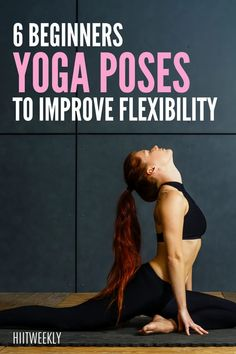 reach further wit these 6 yoga poses for increased flexibility. Asana Yoga Poses, Easy Yoga Poses, Yoga Poses For Beginners, Workout For Beginners, Mini Workouts, Gym Workout Tips, Workout Plans, Increase Flexibility, Yoga For Flexibility