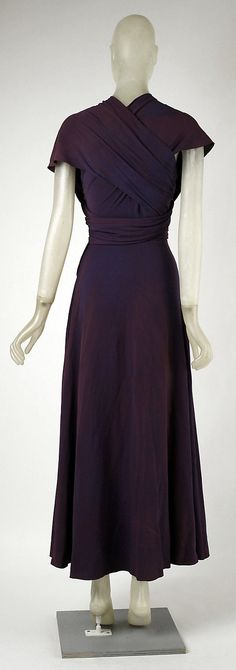 Evening dress Madeleine Vionnet  (French, Chilleurs-aux-Bois 1876–1975 Paris)  Date: 1934 Culture: French Medium: silk. Back