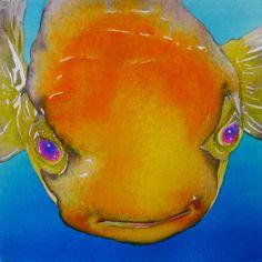 "Glow watercolor 7.5"" x 7.5"" 2014 Bubbles"