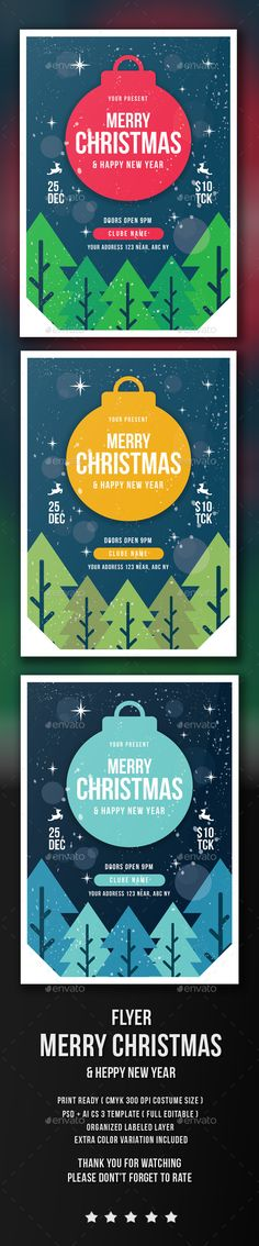Christmas Flyer Template PSD #design #xmas Download: http://graphicriver.net/item/flyer-christmas/13688412?ref=ksioks