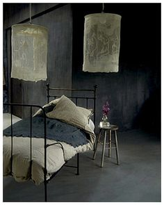 DIY Lace Lanterns Similar to:  http://remodelista.com/posts/diy-rustic-linen-lampshades-from-italy