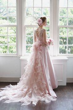 pretty pale pink ~ Bridal gown