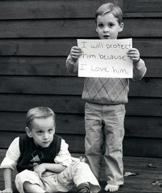 <3 This made me tear up! <3 So sweet. Special needs siblings