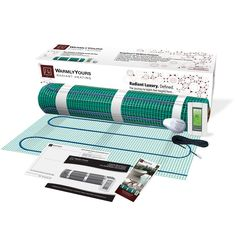 Warm up 40.5 square feet of hardwood, tile, or marble floors when you install this in-floor heating mat, complete with everything you need for easy installation. WarmlyYours SmartStat in-floor heating