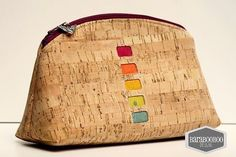 This could easily be a large petal pouch or zip top pouch! Cork!