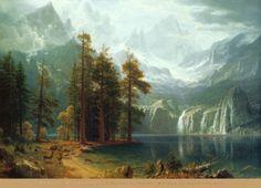 Sierra Nevada in California Bierstadt