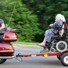 for when you get too old to ride I will put you one the back like this