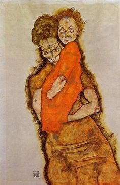 Egon Schiele, Mother and Child 1914 on ArtStack #egon-schiele #art