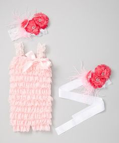 Look what I found on #zulily! Pink Romper Set - Infant & Toddler by Little Gem #zulilyfinds