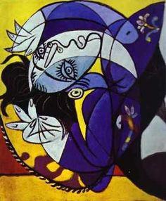 Femme sur oreiller par Pablo Picasso