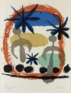 Joan Miró – Affiche De l'Exposition Constellations, 1959