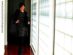 Izabel flocked baroque dress full length