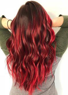 Red Highlights, Vibrant, Long Hair Styles, Beauty, Magic, Instagram, Long Hairstyle, Long Haircuts, Long Hair Cuts