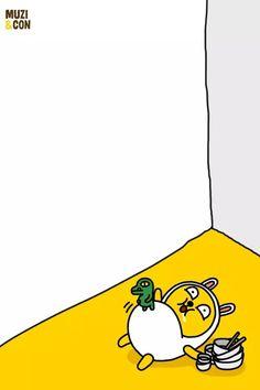 카카오프렌즈 무지&콘 Kakao Friends, Character Design, Doodles, Sticker, Wallpaper, Illustration, Wallpapers, Stickers, Illustrations