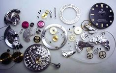 Parts and pieces of Rolex Submariner Cool Watches, Rolex Watches, Watches For Men, Watch Drawing, Rolex Submariner, Rolex Gmt, Oyster Perpetual, Mechanical Watch, Gentleman Style
