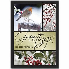 Berry Bird Holiday Cards   Business Holiday Cards   Deluxe.com