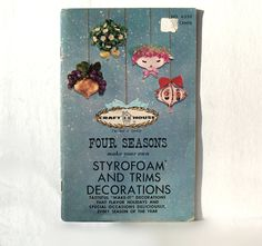 Four Seasons make your own Styrofoam and Trims Decorations Holidays Special Occasions Every Season by Craft House by MargsMostlyVintage on Etsy Sweet Sixteen Centerpieces, Make Your Own, Make It Yourself, How To Make, Bar Mitzvah Centerpieces, New Year Clock, Team Gifts, Four Seasons, Home Crafts
