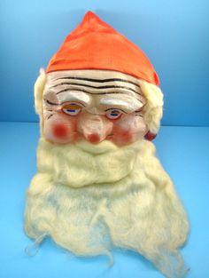 Vintage Creepy Santa Clause Mask from Long Island Mask Co by VintageCreekside, $56.00