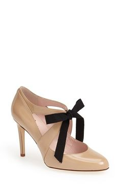 kate spade aiko cut out pumps with grosgrain ribbon bow