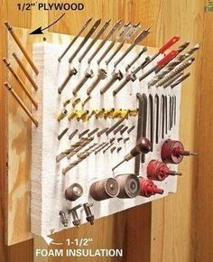 Storage and organization hacks abound when it comes to handymen . See more ideas about Tool storage, Workshop storage and Garage storage. Workshop Storage, Workshop Organization, Shed Storage, Garage Workshop, Garage Organization, Tool Storage, Garage Storage, Storage Ideas, Storage Solutions