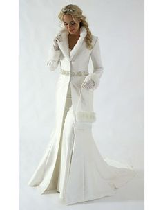 winter long warm fur wedding cloaks-capes-coats #fabrics #weddings #fabricworld
