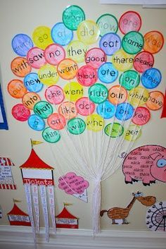 classroom circus theme sight words