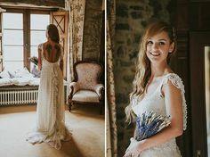 boda sencilla natural de clara y dani Dani, White Dress, Wedding Dresses, Natural, Fashion, Simple Weddings, Simple, Moda, Bridal Dresses