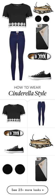 """Untitled #178"" by okb876 on Polyvore featuring Topshop, Converse, Casetify, AeraVida and Disney"