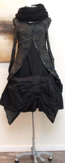 stilecht - mode für frauen mit format... - rundholz dip - Longjacke Camouflage grey - Winter 2014