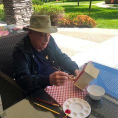 Our residents at Lake Bonavista Village Retirement Residence in Calgary had a great time sitting outside painting bird houses! 😄 #vervecares #community #animalfriendly #birdhouses #goodtimes Outside Paint, Wellness Activities, Emergency Response, Senior Living, Birdhouses, Calgary, Good Times, Retirement, Health Care