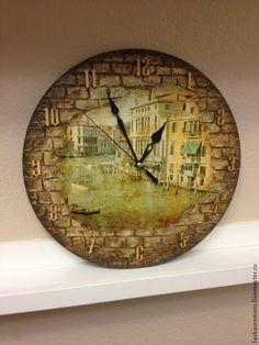 """Купить Часы """"Моя Венеция"""" - часы ручной работы, часы настенные, часы интерьерные"""