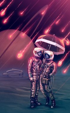 Amazing Digital art and illustrations artwork created by professional artists and designers from top graphic design communities, that will surely mesmerize you Science Fiction, Science Art, Art Pulp, Astronaut Wallpaper, Poster S, Retro Futurism, Sci Fi Art, Trippy, Fantasy Art