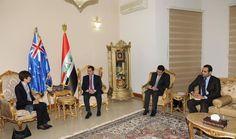 وزير الداخلية يبحث مع سفيرة استراليا في العراق القضايا ذات الاهتمام المشترك http://alghadeer.tv/news/detail/22000/