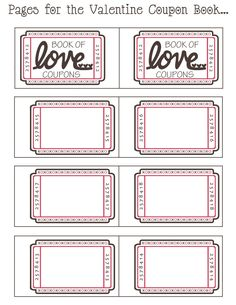 Stay-at-Home Artist: made with love: coupon book | For my sweet ...