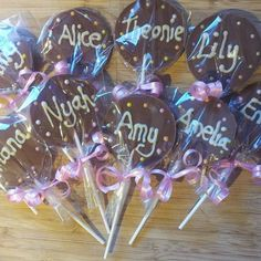 Belgian chocolate hand made lollipops  by SoSweetOnline on Etsy