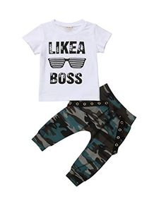 for 0-3 Years Old,Toddler Baby Boys Pocket Hoodie+Camouflage Drawstring Pants,Children 2Pcs Outfits Summer Clothes Sets