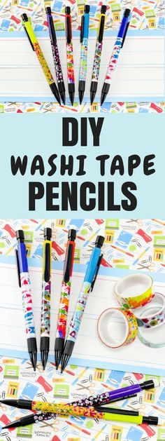 Turn your plain old pencils into something fun and awesome with this easy #DIY Washi Tape Pencils #BacktoSchool craft. #EasyCrafts #WashiTape