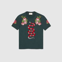 Gucci Men - Cotton t-shirt with snake
