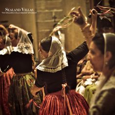 """One of our beautiful traditions is """"ball de bot"""" - a typical dance from centuries ago."""